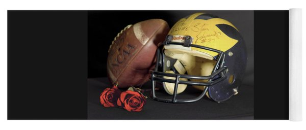 Stan Edwards's Autographed Helmet With Roses Yoga Mat