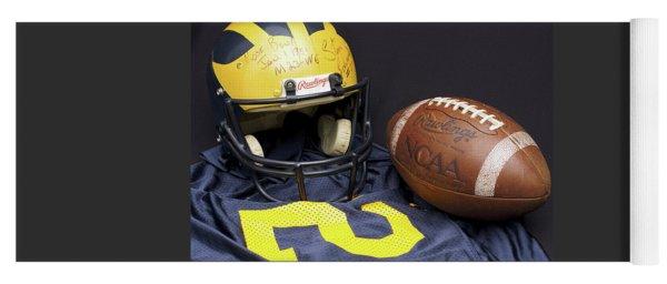 Stan Edwards's Autographed Wolverine Helmet Yoga Mat