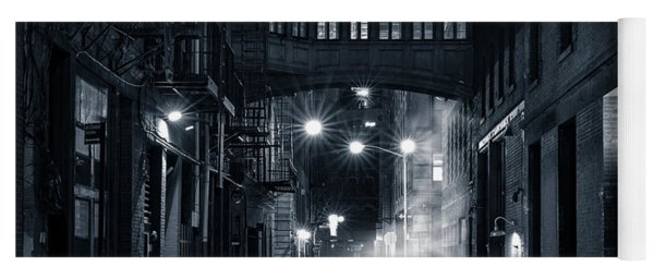 Staple Street Skybridge By Night Yoga Mat