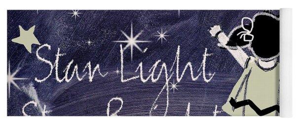 Star Light Star Bright Chalk Board Nursery Rhyme Yoga Mat