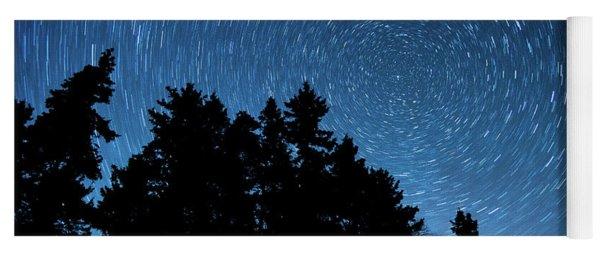 Star Trails In Acadia Yoga Mat
