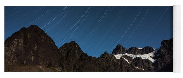 Star Trails, Mount Shuksan Yoga Mat