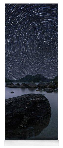 Star Trails Over Jordan Pond Yoga Mat