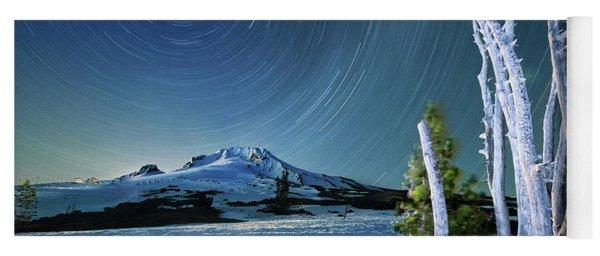 Star Trails Over Mt. Hood Yoga Mat