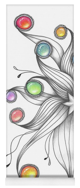 Yoga Mat featuring the drawing Starburst by Jan Steinle
