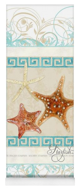 Starfish Greek Key Pattern W Swirls Yoga Mat