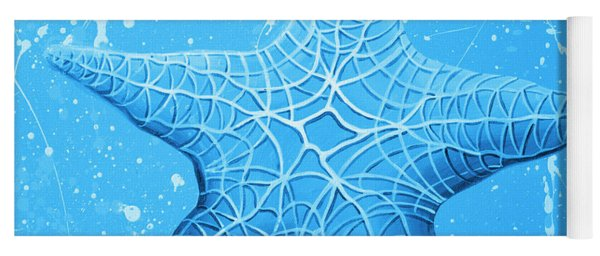 Starfish In Blue Yoga Mat