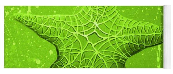 Starfish In Green Yoga Mat