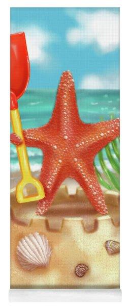 Starfish Makes A Sandcastle Yoga Mat