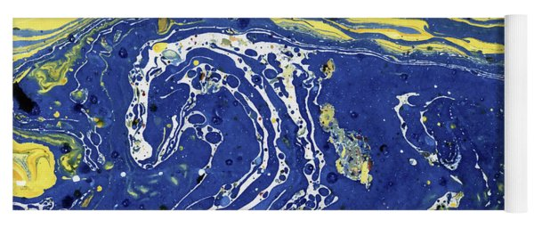 Starry Night Abstract Yoga Mat