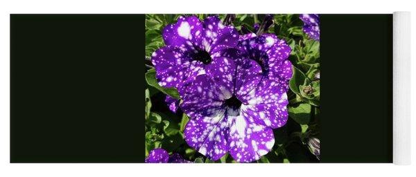 Starry Petunias... Yoga Mat