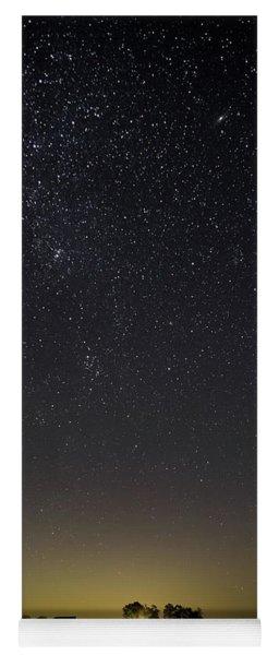 Starry Sky Over Virginia Farm Yoga Mat