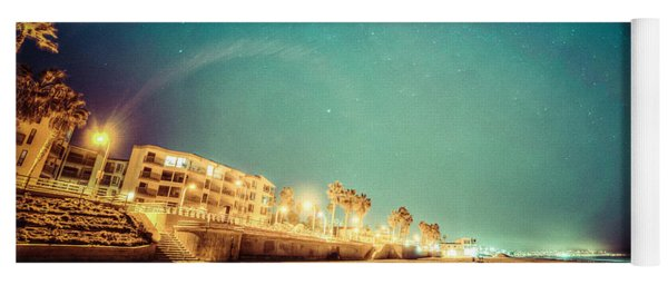 Yoga Mat featuring the photograph Starry Starry Pacific Beach by T Brian Jones