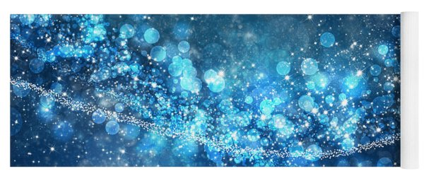 Stars And Bokeh Yoga Mat