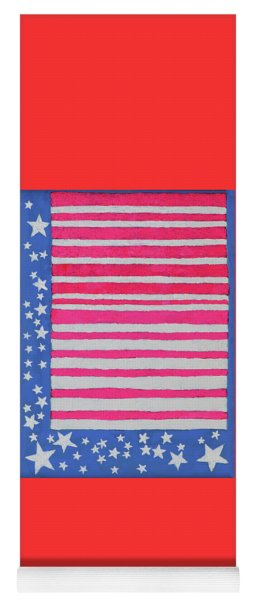 Yoga Mat featuring the painting Stars And Stripes by Deborah Boyd
