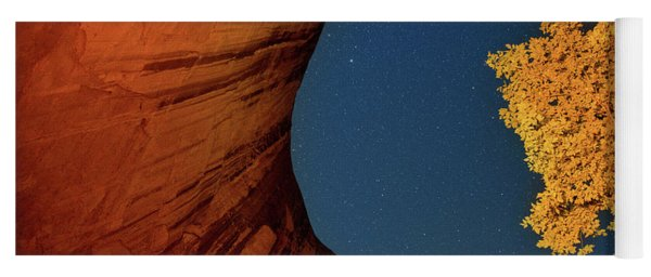 Stars Over Canyon Yoga Mat