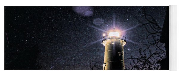 Stars Over Nobska Lighthouse Yoga Mat