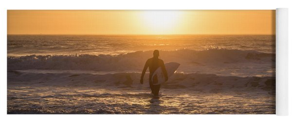 Start The Day Surfing Yoga Mat