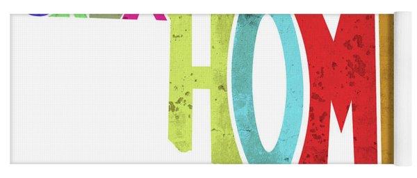State Of Oklahoma Typography Yoga Mat