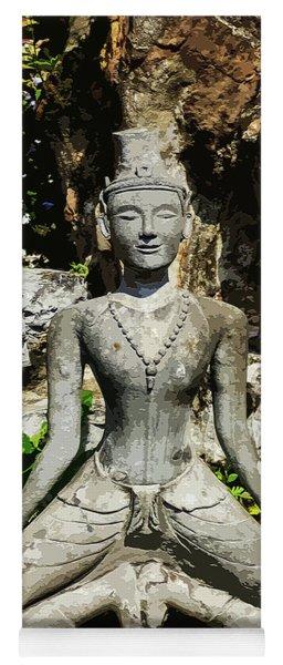 Statue Depicting A Thai Yoga Pose Yoga Mat