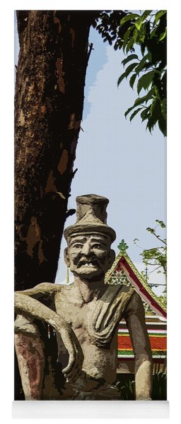 Statue Of Dr Shivago At Wat Pho Yoga Mat