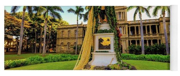 Statue Of, King Kamehameha The Great Yoga Mat