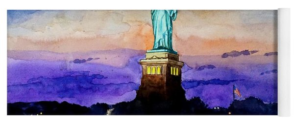 Statue Of Liberty New York Yoga Mat