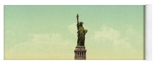 Statue Of Liberty, New York Harbor Yoga Mat