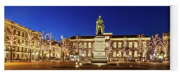 Yoga Mat featuring the photograph Statue Of William Of Orange On The Plein - The Hague by Barry O Carroll
