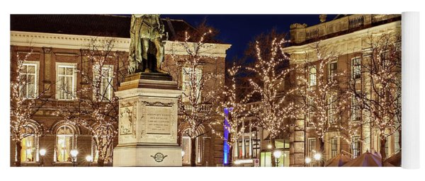 Yoga Mat featuring the photograph Statue Of William Of Orange - The Hague by Barry O Carroll