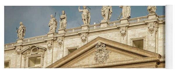 Statues Of St Peter's Basilica Yoga Mat