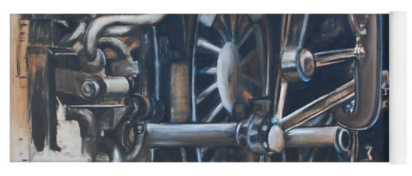 Steam Engine Wheels Yoga Mat