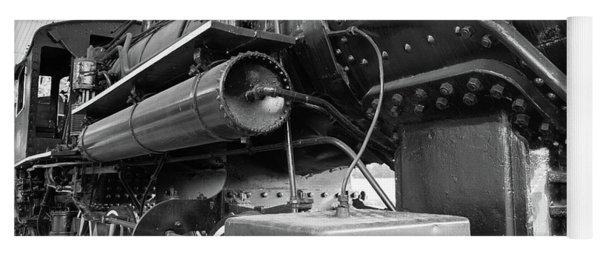 Yoga Mat featuring the photograph Steam Locomotive Side View by Doug Camara