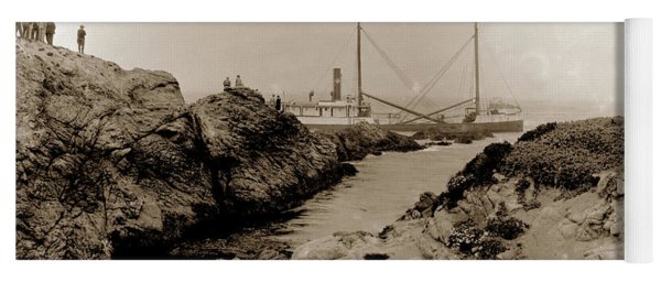Steam Schooner S S J. B. Stetson, Ran Aground At Cypress Point, Sep. 1934 Yoga Mat