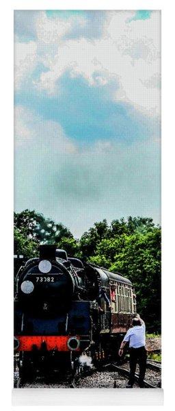 Steam Train Approaching Yoga Mat