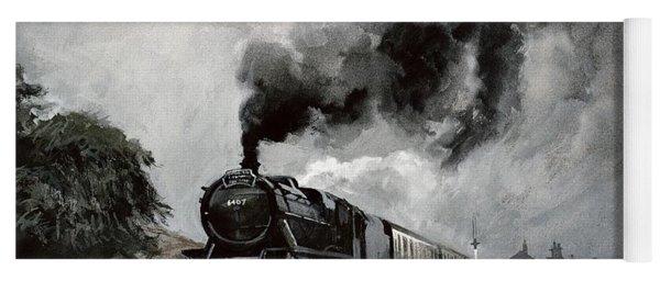 Steam Train At Garsdale - Cumbria Yoga Mat