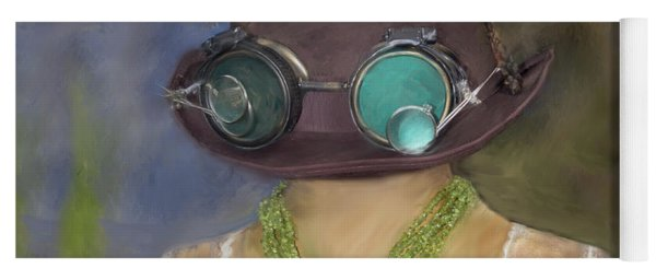 Steampunk Beauty With Hat And Goggles - Square Yoga Mat