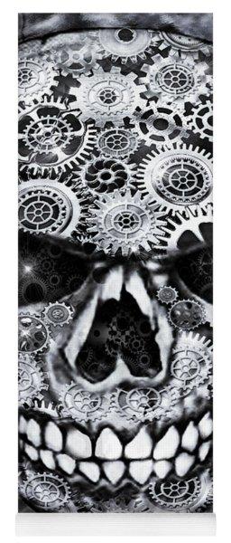 Steampunk Skull Yoga Mat