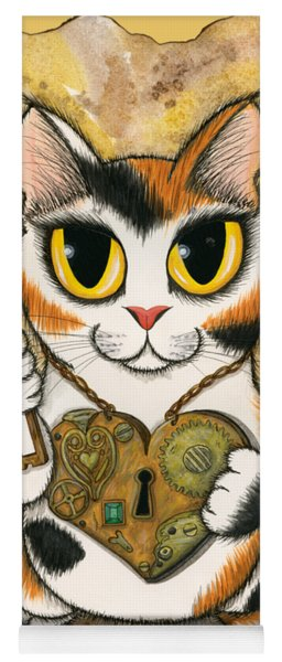 Steampunk Valentine Cat Yoga Mat