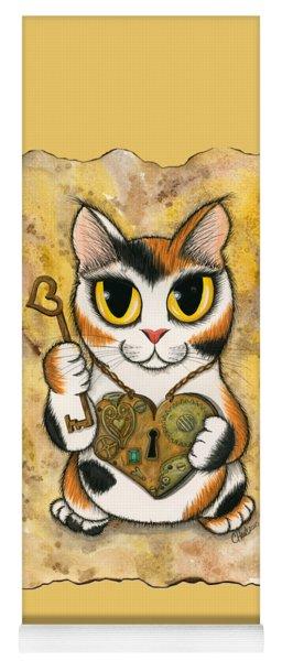 Steampunk Valentine Cat Yoga Mat