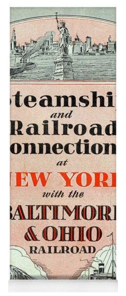 Steamship And Railroad Connections At New York Yoga Mat