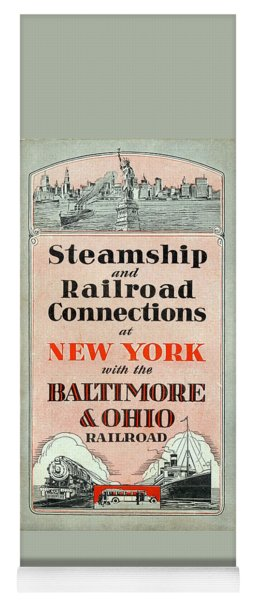 Steamship And Railroad Connections At New York Yoga Mat