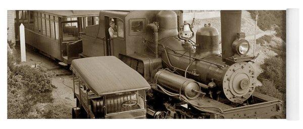 Stean Engine No. 8 Mount Tamalpais Circa 1920 Yoga Mat
