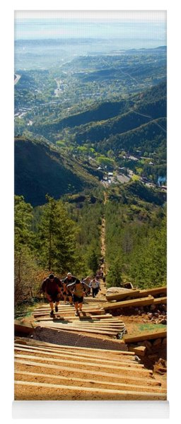 Steep Manitou Incline And Barr Trail Yoga Mat