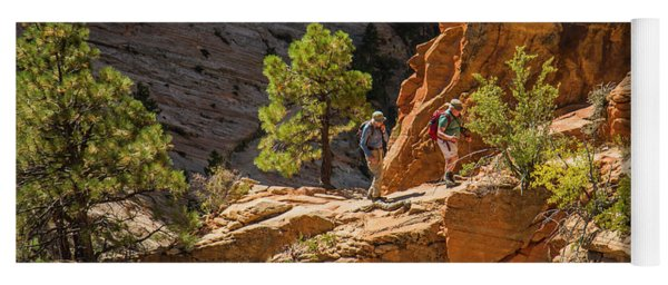 Steeply Up The Canyon Yoga Mat
