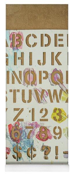Stencil Alphabet Fun Yoga Mat