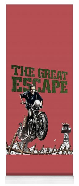 Steve Mcqueen On Motorcycle The Great Escape Poster 1963 Color Added 2016 Yoga Mat