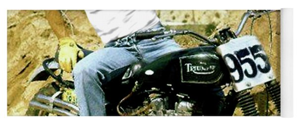 Steve Mcqueen, Triumph Motorcycle, On Any Sunday Yoga Mat