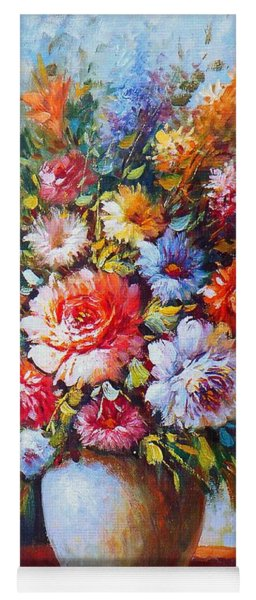 Still Life Colourful Flowers In Bloom Yoga Mat