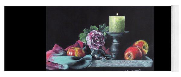 Still Life With Candle Yoga Mat